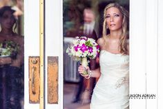 Jason Adrian Photography | wedding photography | Chicago Illinois love the use of the door frame to frame the bride