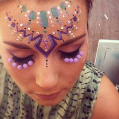 IN YOUR DREAMS PAINTED HEADDRESS DESIGN AND 'YOUR ENTERTAINING LASH'