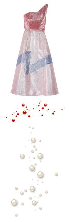 """""""Pearls"""" by onesweetthing ❤ liked on Polyvore featuring dresses, vika gazinskaya, lilac, white cocktail dress, circle skirts, white sparkly dress, one shoulder dresses, skater skirt, fillers and effects"""