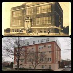 #FlashbackThursday: Recognize this building? Here's a hint: it is located right next to the Baldwin Clearview Cinemas Theater. Built in 1922, School No.4, also known as the Coolidge School, served as an elementary school for local Baldwin students. It was later sold off and converted into cooperative apartments. The building which still stands today is called the Baldwin Manor. — In Baldwin, NY.