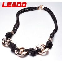 LEADO new 2014 fashion brand autumn metal long rope statement necklaces chains jewelry for women girls wedding accessories LJ044