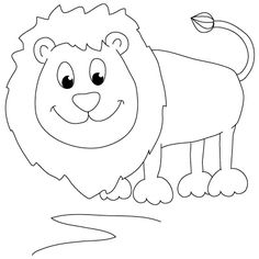 how to draw a lion - Simple Drawing For Kids