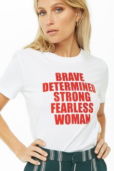 1a5e9739 Fearless Woman Graphic Tee | Forever 21 Slogan Tops, Band Tees, Forever 21,