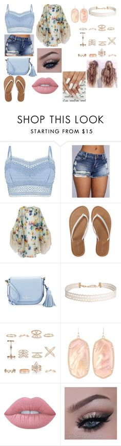 """""""Untitled #114"""" by kora-muffin on Polyvore featuring Lipsy, Aéropostale, Kate Spade, Humble Chic, New Look, Kendra Scott and Lime Crime"""