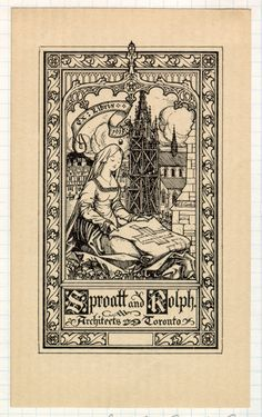 Canadian Bookplates: The Architects Library