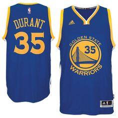 Men's Golden State Warriors Kevin Durant adidas Royal Road Swingman Jersey