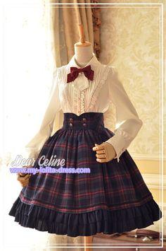 Winchester*** Vintage Tartan Lolita High Waist Fishbone Skirt for Autumn and Winter $75.99 - My Lolita Dress