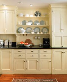 make it look like an old kitchen  Cabinetry by the Kennebec Company