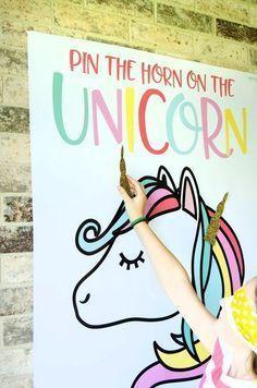 Something like this but with mermaids! #freeunicornprintables #unicornpartydecor #unicornbirthday #unicornbirthdaypartyideas