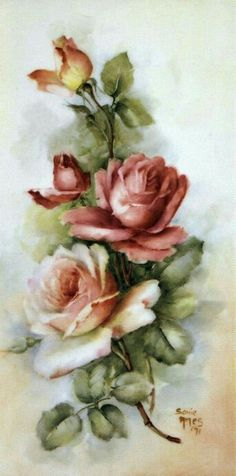 Flowers roses painting decoupage ideas for 2019 Floral Vintage, Vintage Flowers, Vintage Prints, Vintage Art, Arte Floral, Decoupage Vintage, Illustration, China Painting, Rose Art