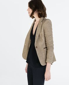 ZARA - COLLECTION SS15 - BLAZER WITH ELBOW PATCHES
