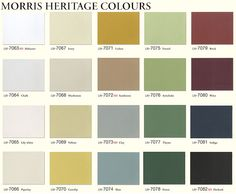 morris heritage colours