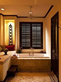 Bathroom British Colonial Style