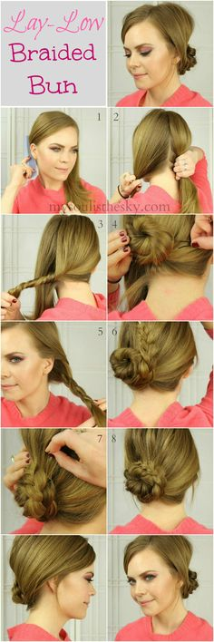 lay-low braided bun via missysueblog