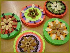 Barevná krabička na poklady Autumn Activities, Craft Activities For Kids, Crafts For Kids, Arts And Crafts, Autumn Crafts, Nature Crafts, Seed Art, Paper Magic, Fall Halloween