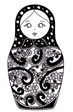 Free coloring page coloring-russian-dolls-10. coloring-russian-dolls-10