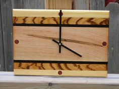 *****SHIPS IN 2-3 WEEKS***** IF NEEDED SOONER PLEASE CONTACT US!!! MADE TO ORDER This particular clock has been sold, but able to be made for one with interest. Please be aware, the color and grain pattern of wood will vary slightly, due to wood characterization. Wood wall clock