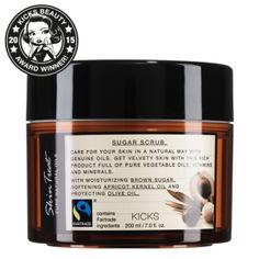KICKS  Skin Treat Pure Natural Oils Sugar Scrub Har testat många kropps skrubbar i mitt liv,som inte fungerar men denna var helt underbar luktar gott och gör sitt jobb får 5 stjärnor av mig.