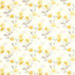 Yellow poppy meadow wallpaper from Laura Ashley