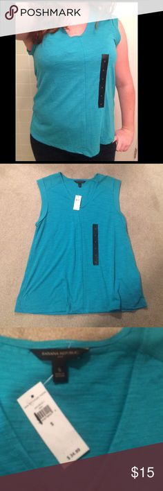 Teal BR tank Super cute real colored banana republic tank! Brand new with tags! Purchased to wear to work but never did! Banana Republic Tops Tees - Short Sleeve