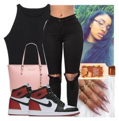 """"""""""" by kodakdej ❤ liked on Polyvore featuring MICHAEL Michael Kors and NIKE"""