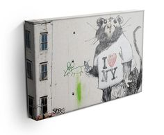 Our Banksy Rat I Love New York canvas print, makes a beautiful addition to any room. Comes ready to hang and also available as a poster Banksy Canvas Prints, Banksy Rat, New York Canvas, Modern Canvas Art, Take My Money, Rats, Paintings, My Love, Poster