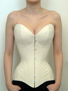 Basic push-up corset shape by Barbara Pesendorfer of Royal Black Couture Corsetry for Foundations Revealed