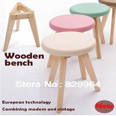 solid wood+Korea PVC,wood stool,dining chair,suitable for home furnishing or outdoor,live room furniture. Subcategory: Home Furniture. Pallet Furniture Tv Stand, Diy Furniture Plans, Woodworking Furniture, Handmade Furniture, Kids Furniture, Rustic Wooden Shelves, Wooden Diy, Diy Wooden Projects, Wood Stool