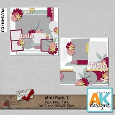 Mini Pack 2 includes 2 (12x12) templates that can be easily sized to 8x8 if you would like. My templates are PU/S4H/S4O/CU friendly. My templates are also allowed for your CT projects. This pack includes PSD, PNG and TIFF, Page and SBpage formats. Shadows are for preview purpose only.    Please note that these templates where once given away/freebies on my blog, facebook, speed scrap and/or newsletter.  Before purchase please make sure you do not have these stored on yo