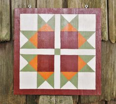 Variable Star in fall colors  15 x 15 Barn quilt square by stellassweetheart, $24.00