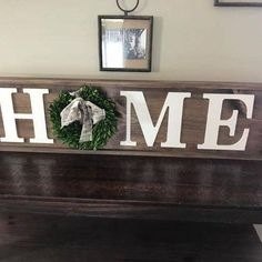 Thank you for shopping Belle West Home Decor! We are so excited that you are interested in our handmade farmhouse style and rustic home decor. Please read the following information before placing your order: {ABOUT THIS SIGN} This HOME Sign is the perfect rustic wood sign to