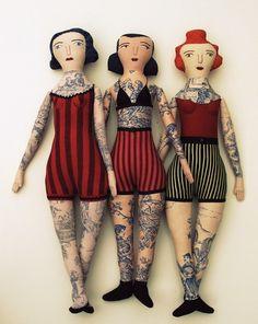 Mimi Kirchner Tatooed dolls