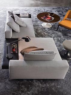 Sofa-set beistelltisch wohnzimmer-lounge teppichboden-grau nuancen