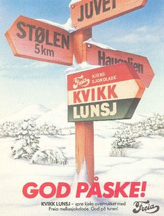 kvikklunsj chocolate is a must in norway when going hiking. Tradition, especially for easter trips, when many norwegians go skiing in the mountains History Of Chocolate, Vintage Ski Posters, Lost In The Woods, Stavanger, Ancient Symbols, Norway, Skiing, Scandinavian, The Incredibles