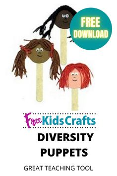 These Diversity Puppets are a good way to start the conversation about understanding and appreciating the diverse population of our country. Reaching out to help and promote understanding is not just for Martin Luther King Day. It is something we need to promote all year long. #fkc #freekidscrafts #crafts #kids #free #children #crafting #diy #family #homeschool #unschool #parents #puppets #mlk Family Crafts, Crafts For Kids, Multicultural Crafts, Puppet Crafts, Teacher Tools, Learning Resources, Martin Luther King Day, Diversity, Teaching Kids