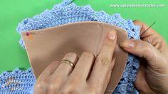Como aplicar bojo em biquínis e tops de crochê