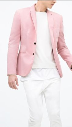 Pink blazer for summer
