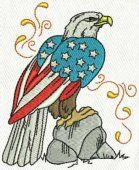 4th of July Celebrate - embroidery design 6 - 4 sizes