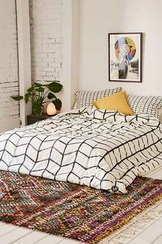 Wonder Forest For DENY Grid Lock Duvet Cover - Urban Outfitters