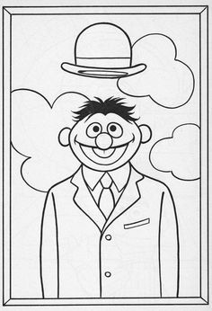 Famous Art Muppets Coloring Pages