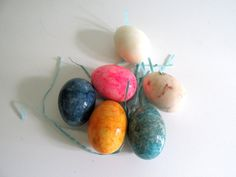 Vintage Alabaster Eggs Easter Eggs Marbled Multiple Colors Italian Stone Eggs by RollingHillsVintage on Etsy