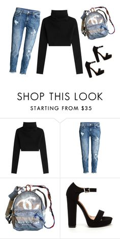 """""""Blue Chanel"""" by liveloveshopfashion ❤ liked on Polyvore featuring Valentino and Chanel"""