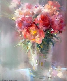 Peony Painting, Watercolor Flowers, Watercolor Paintings, Pastel Floral, Pastel Art, Pastel Paper, Oil Painting Gallery, Impressionism Art, Pastel Drawing