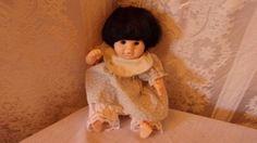 Designer Doll by Pauline  Brunette Baby Girl 8 inch tall #Dolls