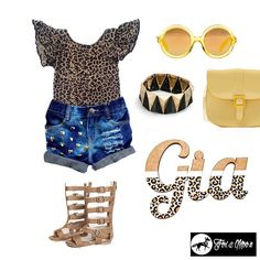 And of course we cannot forget little Summers wish list  again I have the leotard just need the rest lol! Tag for details #etsy #shop #flatlay #inspiration #leotard #bag #sunnies #sunglasses #gladiator #shorts #denim #leopardprint #leopard #print #bangle #kids #fashion #kidsoninstagram #shoes