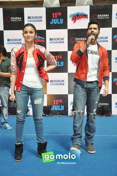 Alia Bhatt & Varun Dhawan at the Promotion of Hindi movie 'Humpty Sharma Ki Dulhania' at Korum Mall in Mumbai