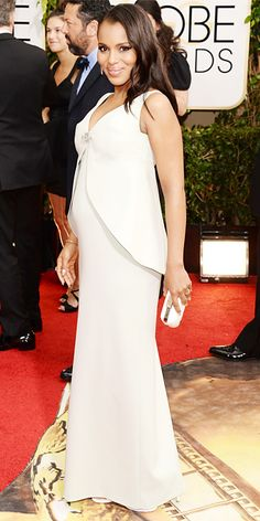 Eric Wilson's Top 10 Best-Dressed at the 2014 Golden Globes - 3. Kerry Washington from #InStyle