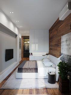wooden accent bedroom decor