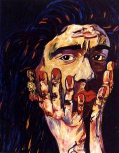 "Saatchi Art Artist CARMEN LUNA; Painting, ""14-Expressions of Carmen Luna. Mujer flamenca."" #art"