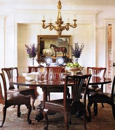 Country house dining room...Life of Hunt